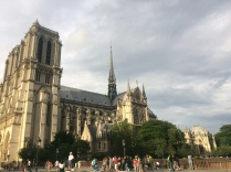 Notre Dame in the evening light.