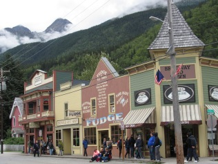 """The """"downtown"""" of Skagway is kept by the Nation Parks Service, and even the paint on the buildings has been tested for historical accuracy."""